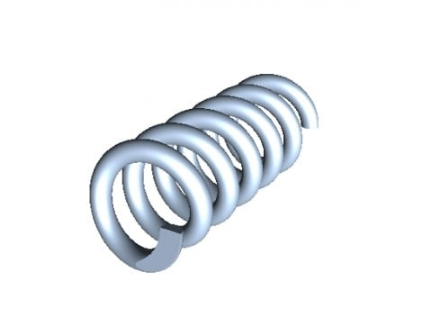 HELICAL-CYLINDRIC SPRING WD=1,1 L0=15 D=6
