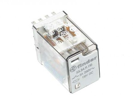INDUSTRIAL RELAY 110 V AC/DC 55.34