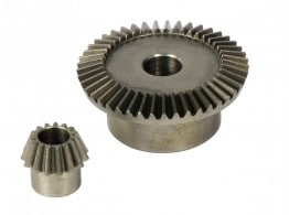 BEVEL GEAR PAIR M=1,5 R=1:3 Z=15/45 UNI 7847